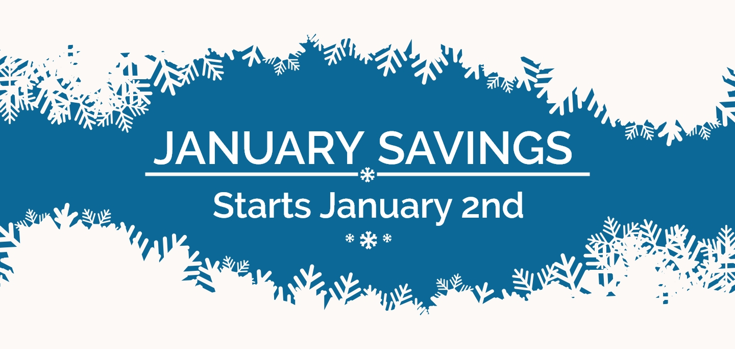 January Savings Event Banner